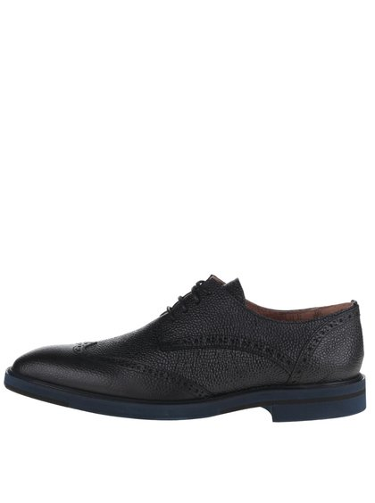 Pantofi Oxford negri Selected Homme Wight din piele