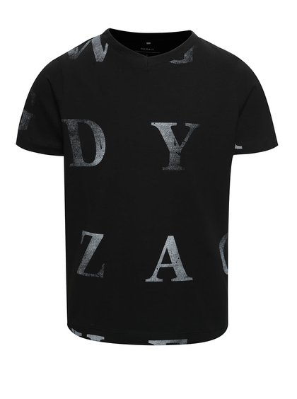 Tricou negru cu imprimeu name it Dopal pentru băieți