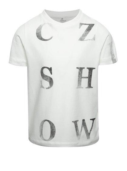 Tricou crem cu imprimeu name it Dopal pentru băieți