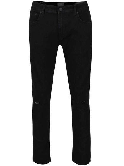 Černé skinny džíny s potrhaným efektem ONLY & SONS Warp