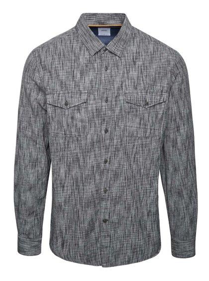 Černo-šedá žíhaná košile Burton Menswear London