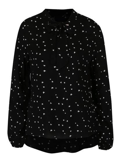 Bluză neagră Haily´s Valentina cu panglici