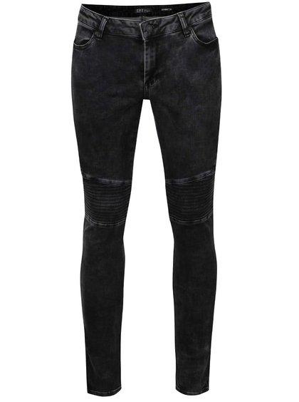 Jeanși skinny gri închis Cars Morgan cu aspect prespălat