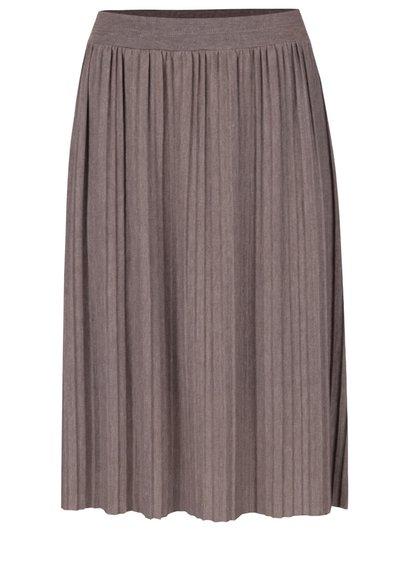 Šedohnědá plisovaná sukně Alchymi Anya