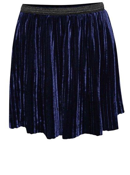 Fustă plisată albastru închis 5.10.15. din catifea