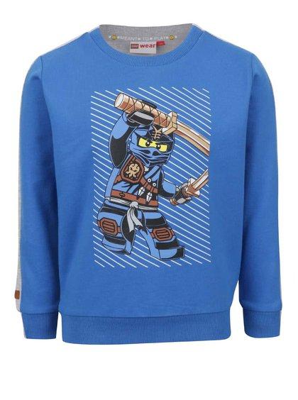 Bluză albastru & gri LEGO Wear Saxton din bumbac cu print