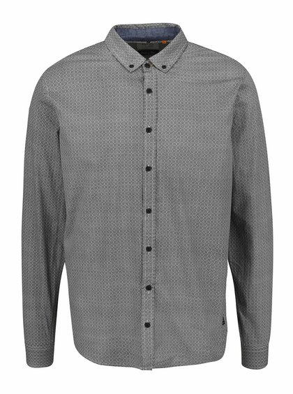 Krémovo-šedá vzorovaná košile Blend