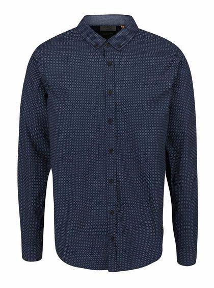 Modrá vzorovaná neformální košile Blend