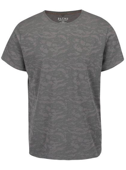 Šedé maskáčové triko s krátkým rukávem Blend