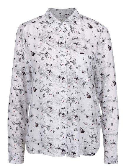 Bílá košile s potiskem a dlouhým rukávem QS by s.Oliver