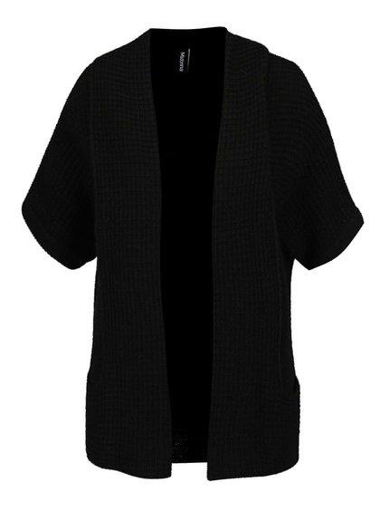 Černý cardigan s krátkými rukávy Madonna Sila