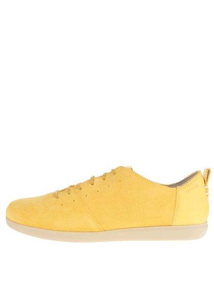 Pantofi sport galbeni Geox New Do din piele întoarsă