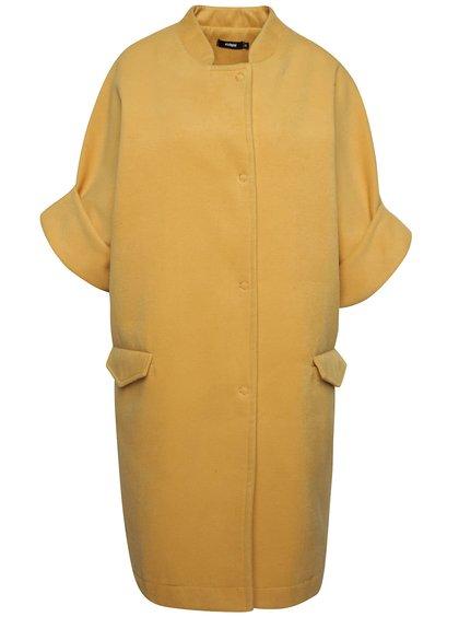 Hořčicový volný kabát s krátkými rukávy Alchymi Ava
