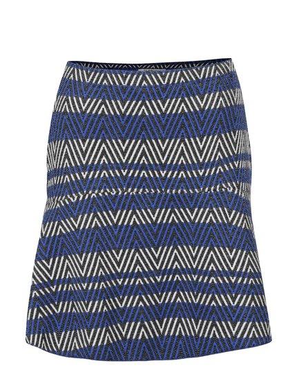 Černo-modrá vzorovaná sukně Rich & Royal