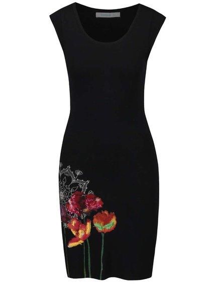 Černé šaty bez rukávů Desigual Sara