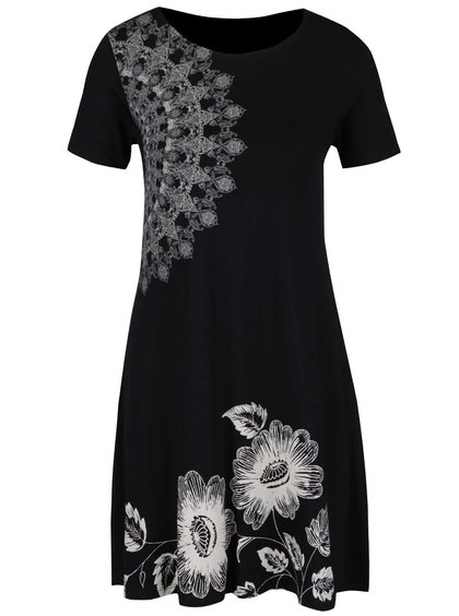 Rochie neagră Desigual Maribel cu model
