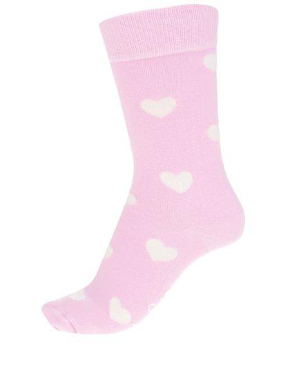 Růžové dámské ponožky se srdíčky Heart Sock