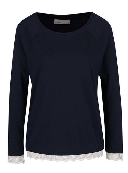 Bluză albastru închis cu detalii din dantelă  VERO MODA Gry