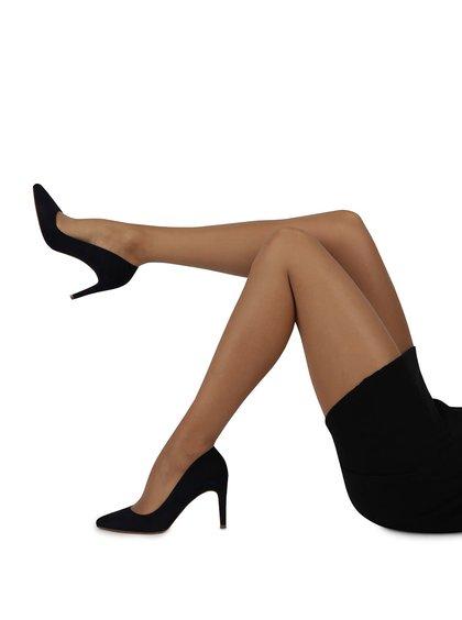 Sada dvou lesklých tělových punčoch Gipsy Soft gloss 15 DEN