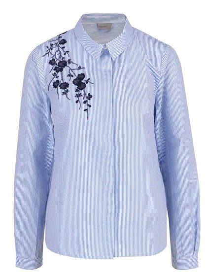 Modrá pruhovaná košile s výšivkou VERO MODA Oda