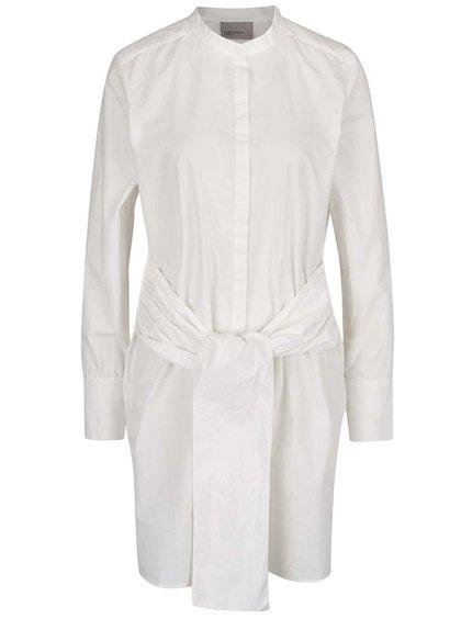 Krémové košilové šaty s dlouhým rukávem VERO MODA Gaia