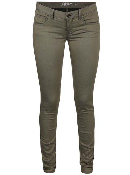 Khaki skinny džíny ONLY Lucia