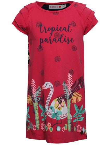Rochie roșie Boboli cu print pentru fete