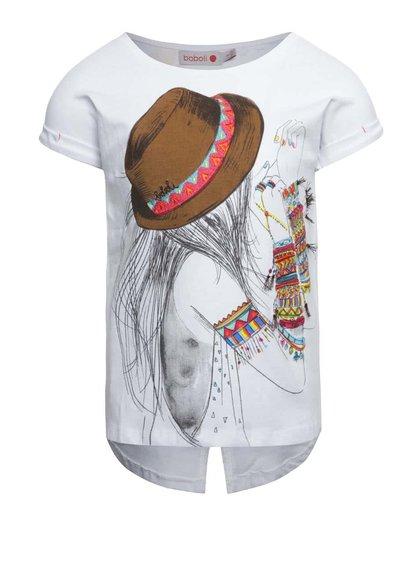 Bílé holčičí tričko s krátkým rukávem Bóboli