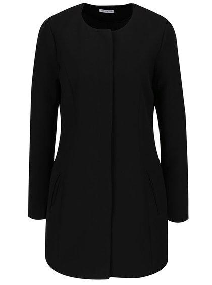 Palton negru Jacqueline de Yong New Brighton cu decolteu rotund