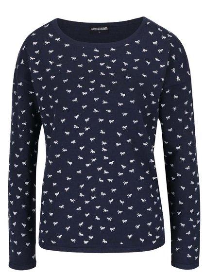 Tmavě modrý svetr s motivem mašliček Haily´s Nellie