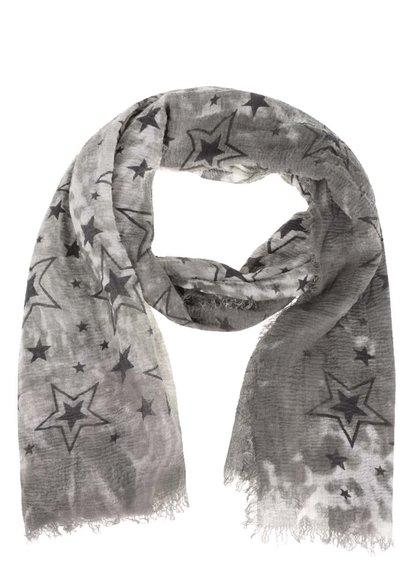Khaki šátek s motivem hvězd Haily´s Estefania