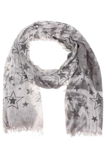 Šedý šátek s motivem hvězd Haily´s Estefania