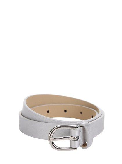 Pásek ve stříbrné barvě Pieces Miranda