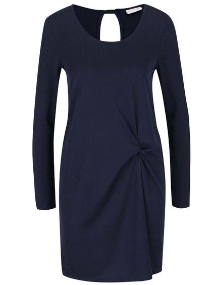 Tmavě modré šaty s nařasením VILA Listy