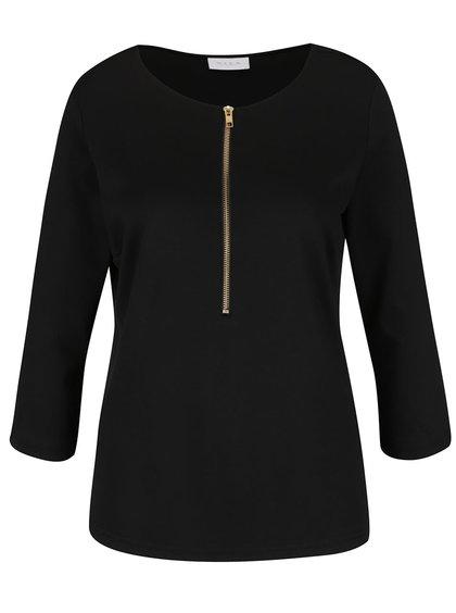 Bluză neagră cu fermoar VILA Haula