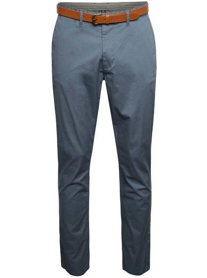 Šedomodré chino kalhoty s páskem Selected Homme Hyard