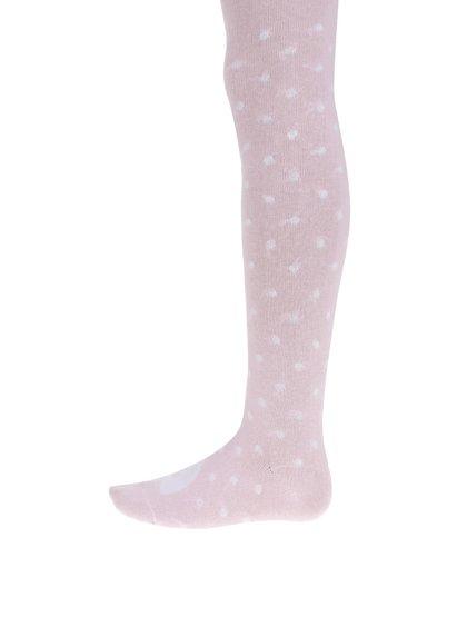 Růžové puntíkované holčičí punčocháče 5.10.15.