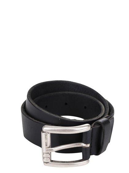 Černý kožený pásek Jack & Jones Max