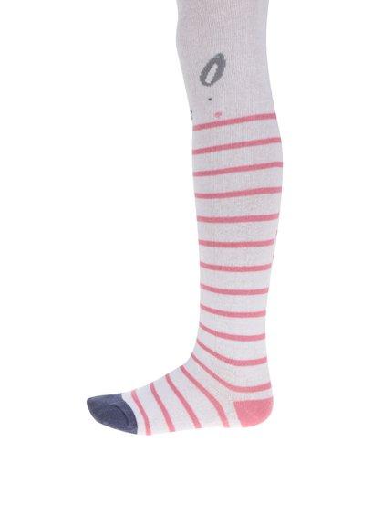 Ciorapi de fete 5.10.15. alb cu roz
