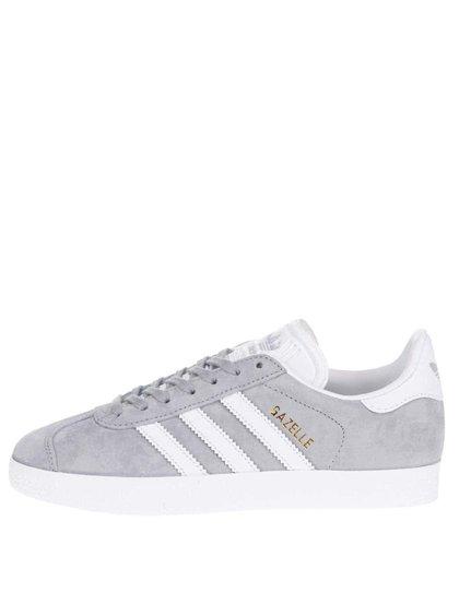 Bílo-šedé dámské semišové tenisky adidas Originals Gazelle
