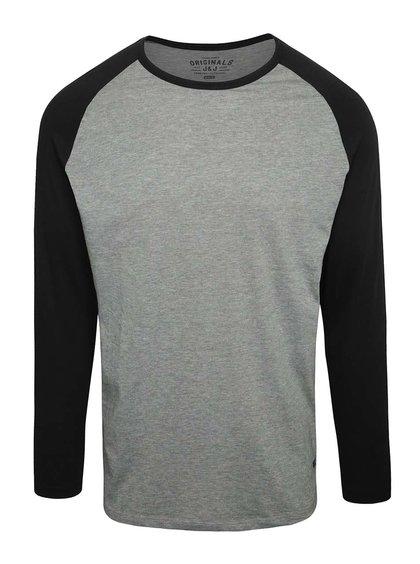 Šedé triko s černými rukávy Jack & Jones Stan