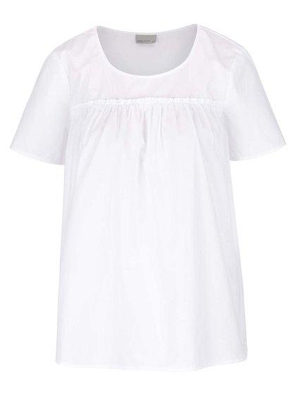 Bílá halenka s krátkým rukávem VERO MODA Mimi