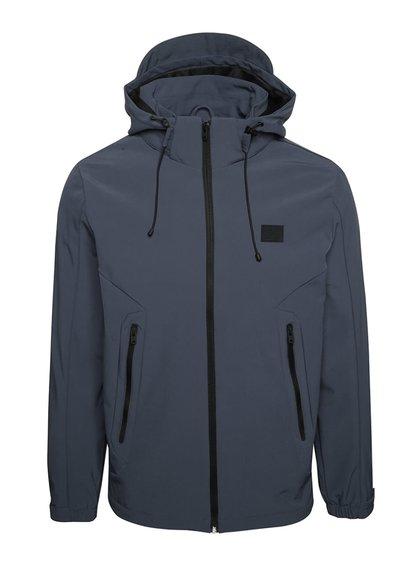 Jachetă bleumarin Jack & Jones Pelle cu glugă detașabilă