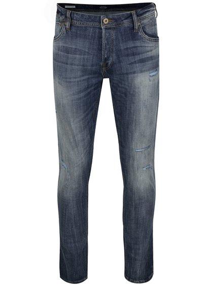 Modré slim fit džíny s potrhaným efektem Jack & Jones Glenn