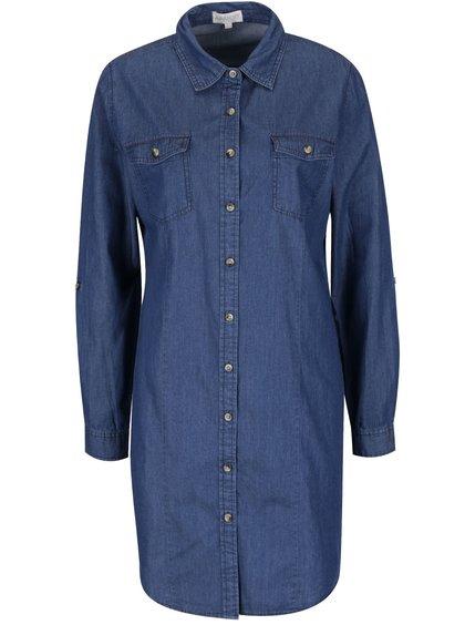 Rochie cămașă bleumarin Apricot din denim