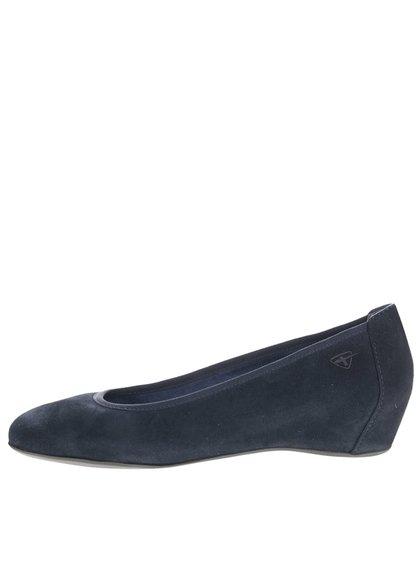 Pantofi wedges albaștri Tamaris