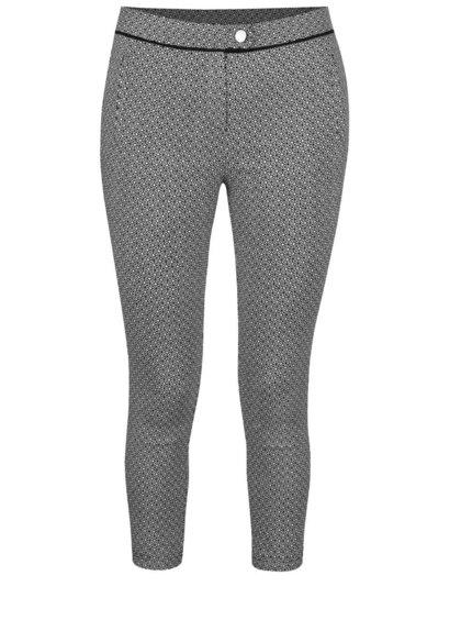 Černé vzorované osminkové kalhoty Dorothy Perkins Petite
