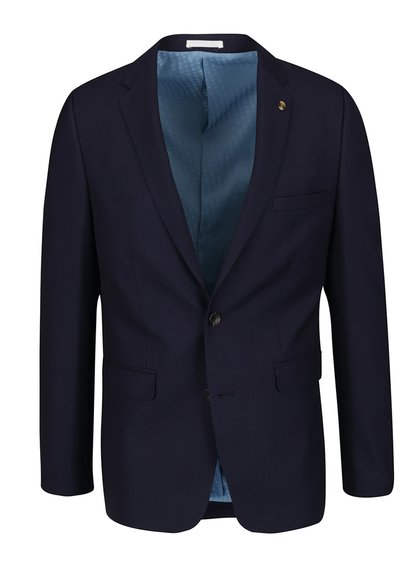 Sacou albastru închis Burton Menswear London slim fit
