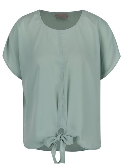 Bluză verde mint VERO MODA Una cu fundă