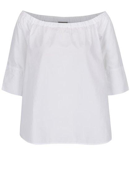 Bluză albă cu decolteu pe umeri VERO MODA Dahlia